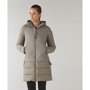 Lululemon Cold As Fluff Parka Subzero Soft Earth